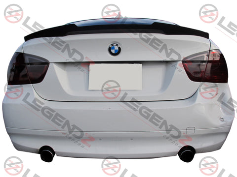 Carbon Fiber Rear Trunk Spoiler for 2005-2011 BMW 3 Series Sedan E90 Type E