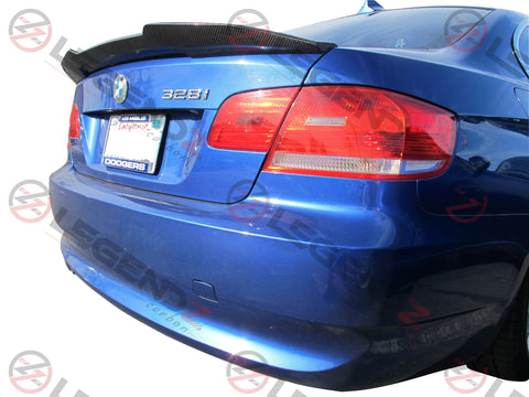 Carbon Fiber Rear Trunk Spoiler for 2007-2013 BMW 3 Series Convertible E93 Type D
