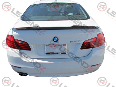 Carbon Fiber Rear Trunk Spoiler for 2011-2016 BMW 5 Series Sedan F10 / F18 Type D