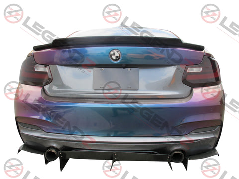 Carbon Fiber Rear Trunk Spoiler for 2014-2018 BMW 2 Series Coupe F22 Type F