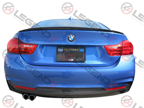 Carbon Fiber Rear Trunk Spoiler for 2014-2019 BMW 4 Series Coupe F32 Type C