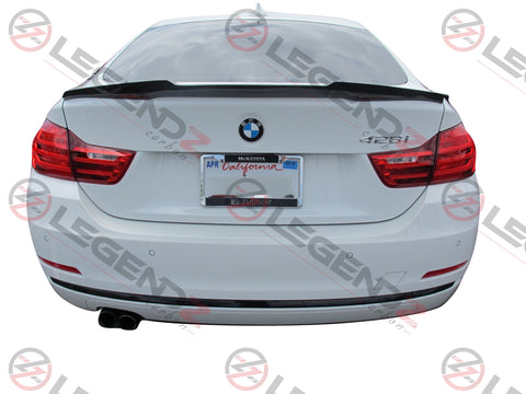 Carbon Fiber Rear Trunk Spoiler for 2014-2018 BMW 4 Series Gran Coupe F36 Type E