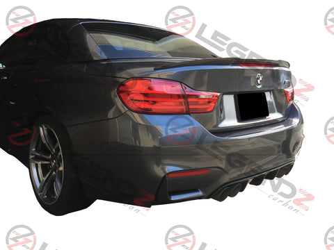 Carbon Fiber Rear Trunk Spoiler for 2014-2018 BMW M4 Convertible F83 Type A