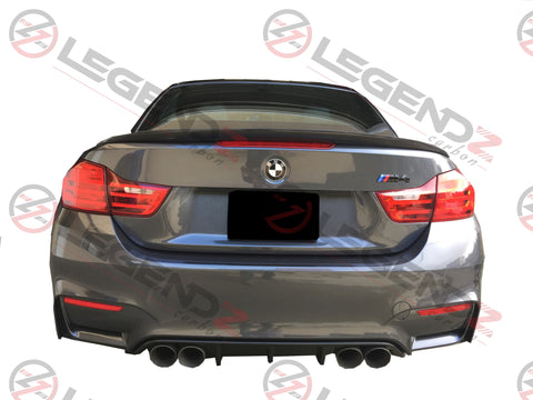 Carbon Fiber Rear Trunk Spoiler for 2014-2018 BMW 4 Series Convertible F33 Type B