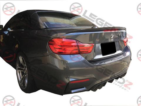 Carbon Fiber Rear Trunk Spoiler for 2014-2018 BMW M4 Convertible F83 Type B