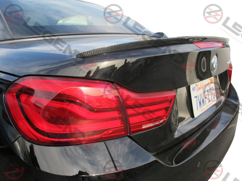 Carbon Fiber Rear Trunk Spoiler for 2014-2018 BMW 4 Series Convertible F33 Type C