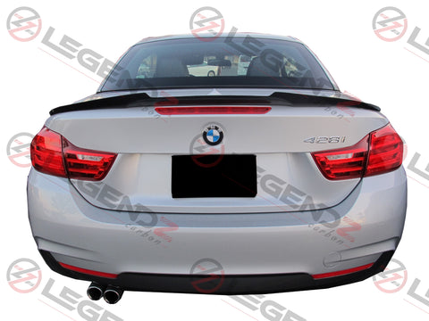 Carbon Fiber Rear Trunk Spoiler for 2014-2018 BMW 4 Series Convertible F33 Type E