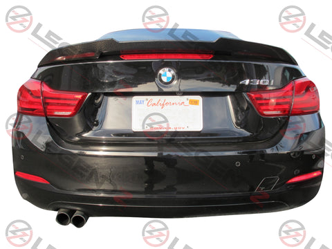 Carbon Fiber Rear Trunk Spoiler for 2014-2018 BMW 4 Series Convertible F33 Type D