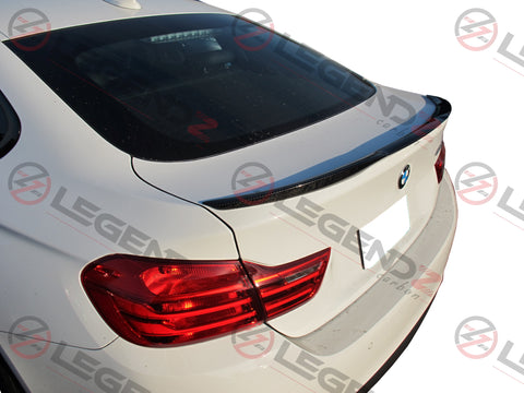 Carbon Fiber Rear Trunk Spoiler for 2014-2018 BMW 4 Series Gran Coupe F36 Type A