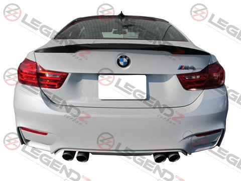 Carbon Fiber Rear Trunk Spoiler for 2014-2018 BMW M4 Coupe F82 Type E