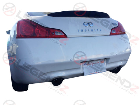 Carbon Fiber Rear Trunk Spoiler for 2008-2015 Infiniti G37 / Q60 Coupe Type D