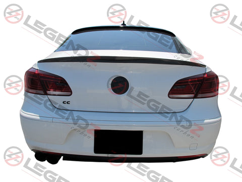 Carbon Fiber Rear Trunk Spoiler for 2008-2017 Volkswagen CC Sedan Type D