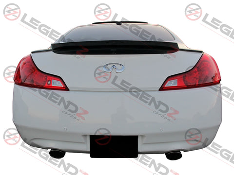 Carbon Fiber Rear Trunk Spoiler for 2008-2015 Infiniti G37 / Q60 Coupe Type B