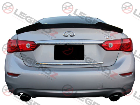 Carbon Fiber Rear Trunk Spoiler for 2014-2018 Infiniti Q50 Sedan Type A