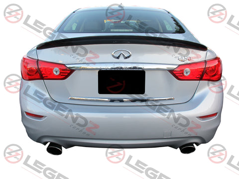 Carbon Fiber Rear Trunk Spoiler for 2014-2018 Infiniti Q50 Sedan Type B