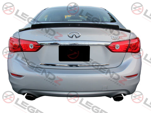 Carbon Fiber Rear Trunk Spoiler for 2014-2018 Infiniti Q50 Sedan Type C
