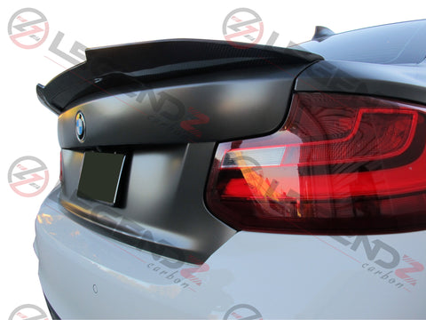 BMW F22 2 Series Carbon Fiber Rear Trunk Spoiler Type D