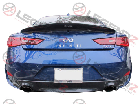Carbon Fiber Rear Trunk Spoiler for 2017-2019 Infiniti Q60 Coupe Type A