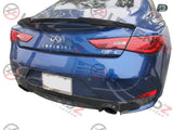 Carbon Fiber Rear Trunk Spoiler for 2017-2019 Infiniti Q60 Coupe Type D