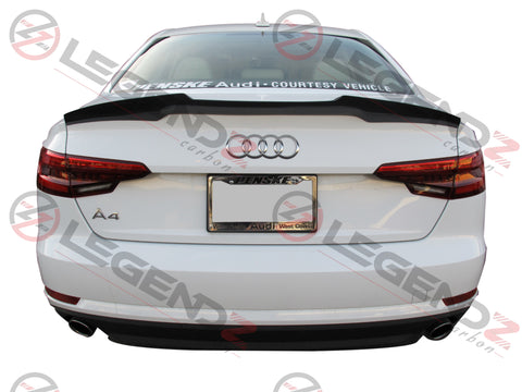 Carbon Fiber Rear Trunk Spoiler for 2017-2018 Audi S4 B9 Sedan Type D