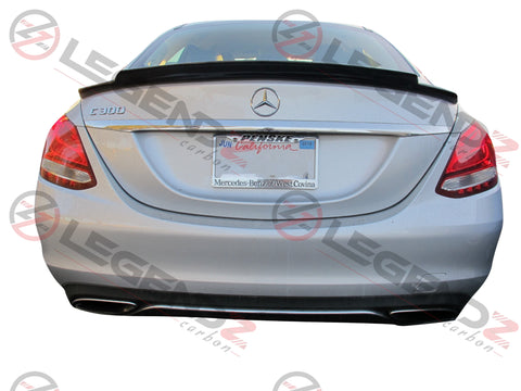 Carbon Fiber Rear Trunk Spoiler for 2015-2018 Mercedes Benz C-Class W205 Sedan Type B