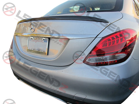 Carbon Fiber Rear Trunk Spoiler for 2015-2018 Mercedes Benz C-Class W205 Sedan Type C