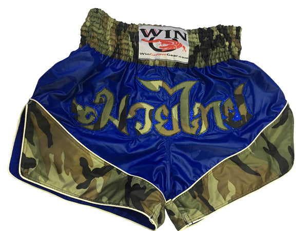 Muay Thai Shorts Army Design