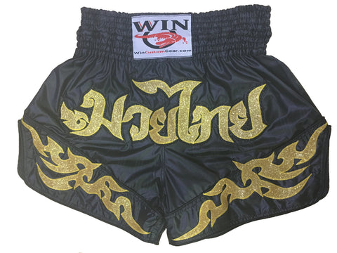 Muay Thai Shorts Gold Design