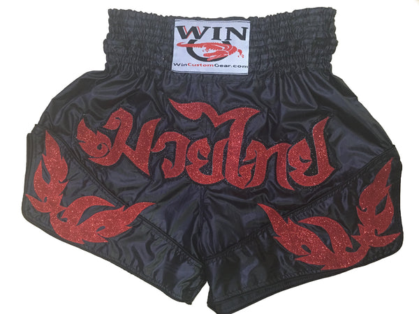 Muay Thai Shorts Red Design