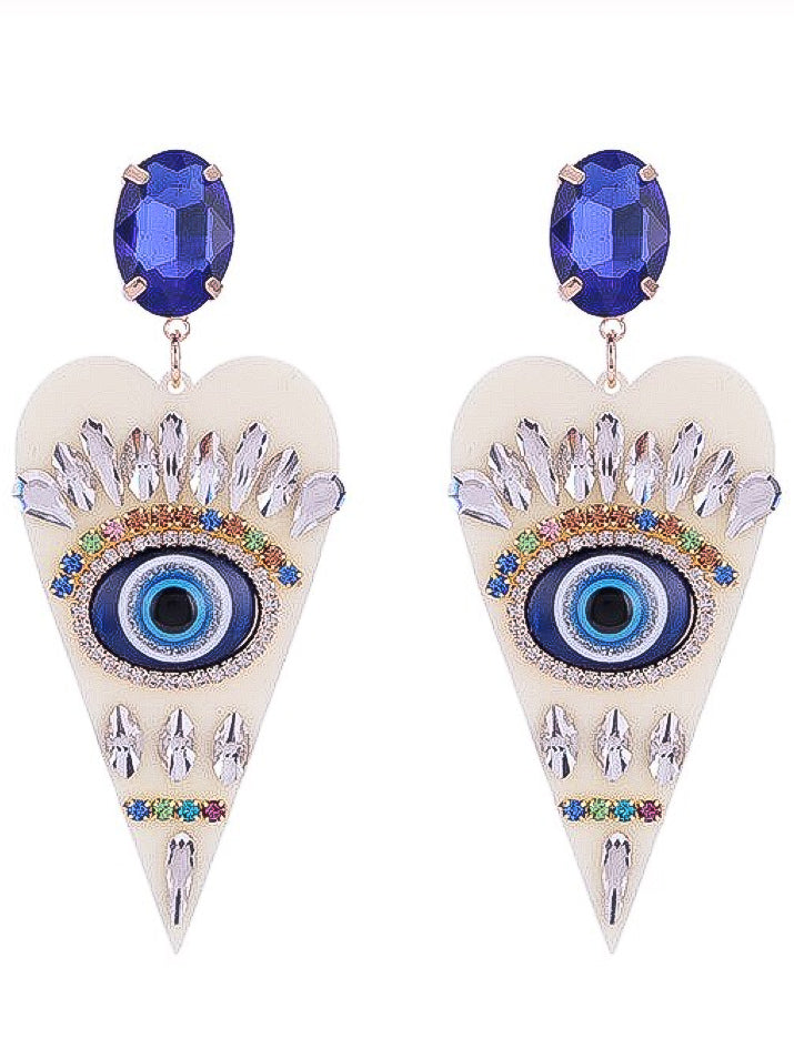 I've Got My Eye on You Earrings - Ivory - Nous Wanderlust Stories