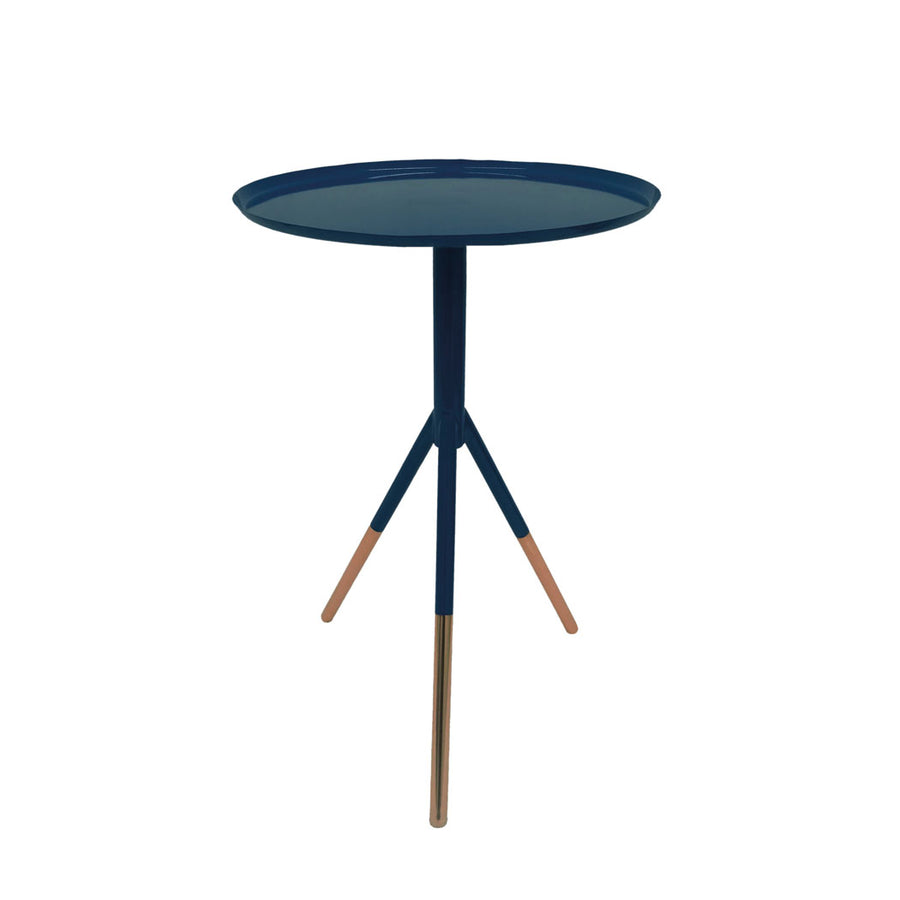 Tripod Table w/ Brass Feet - Navy - Nous Wanderlust Stories