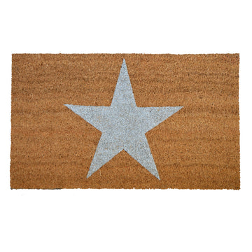 Silver 'Star' Glitter Door Mat - Nous Wanderlust Stories