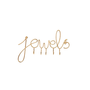 'Jewels' Jewelry Wall Hook - Nous Wanderlust Stories