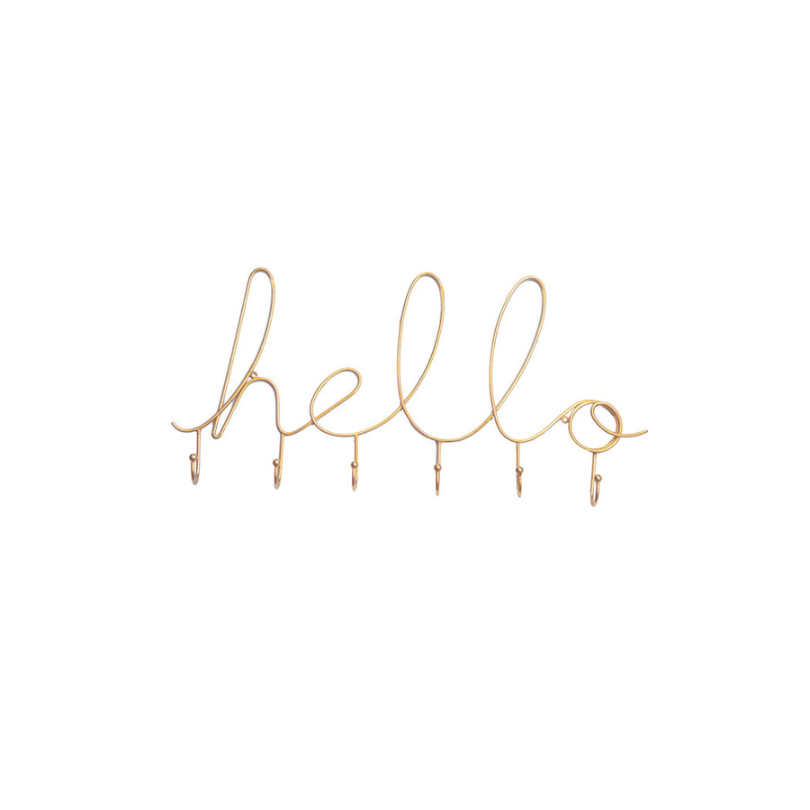Hello Wire Wall Hook - Nous Wanderlust Stories