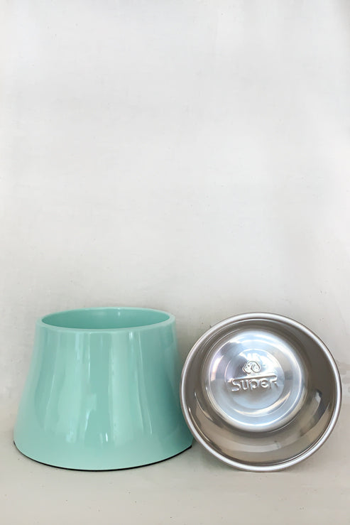 Elevated Feeding Bowl Medium - Mint Green - Nous Wanderlust Stories