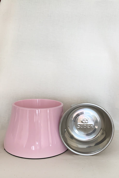 Elevated Feeding Bowl Medium - Pink - Nous Wanderlust Stories