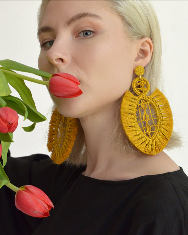 Pipa Earrings - Mustard - Nous Wanderlust Stories
