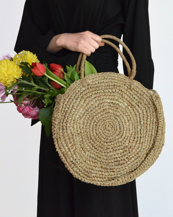 The Round Straw Bag - Natural - Nous Wanderlust Stories