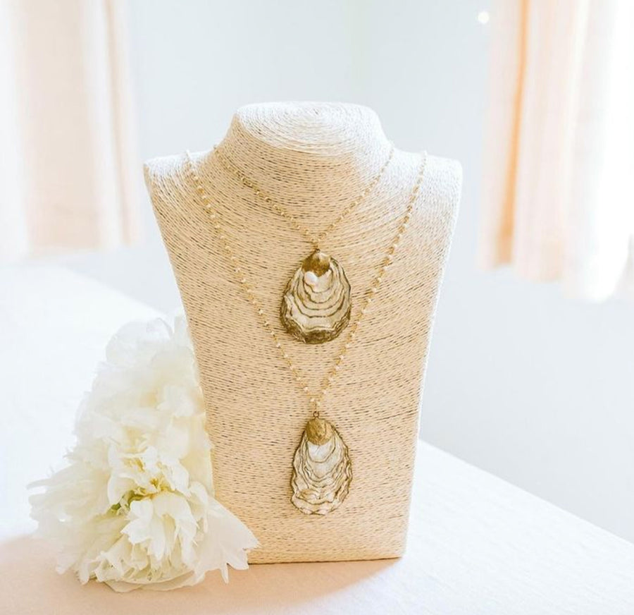 Golden Tide Oyster Necklace - Nous Wanderlust Stories