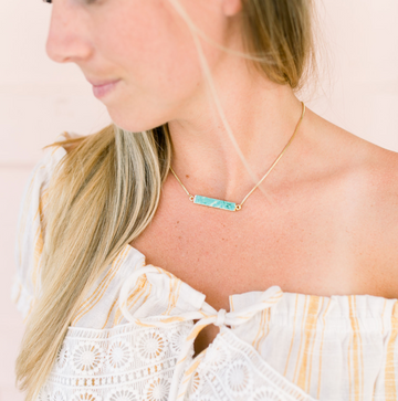 Grit Adjustable Bolo Necklace - Turquoise - Nous Wanderlust Stories