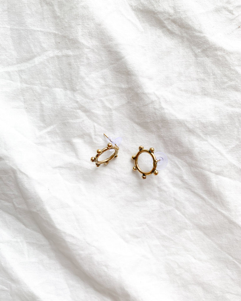 Hebba Circle Stud Earrings - Nous Wanderlust Stories
