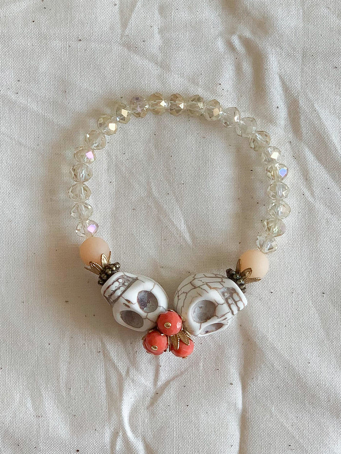 Skull Crush Bracelet - White - Nous Wanderlust Stories