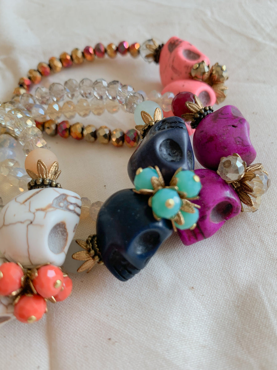 Skull Crush Bracelet - Navy - Nous Wanderlust Stories