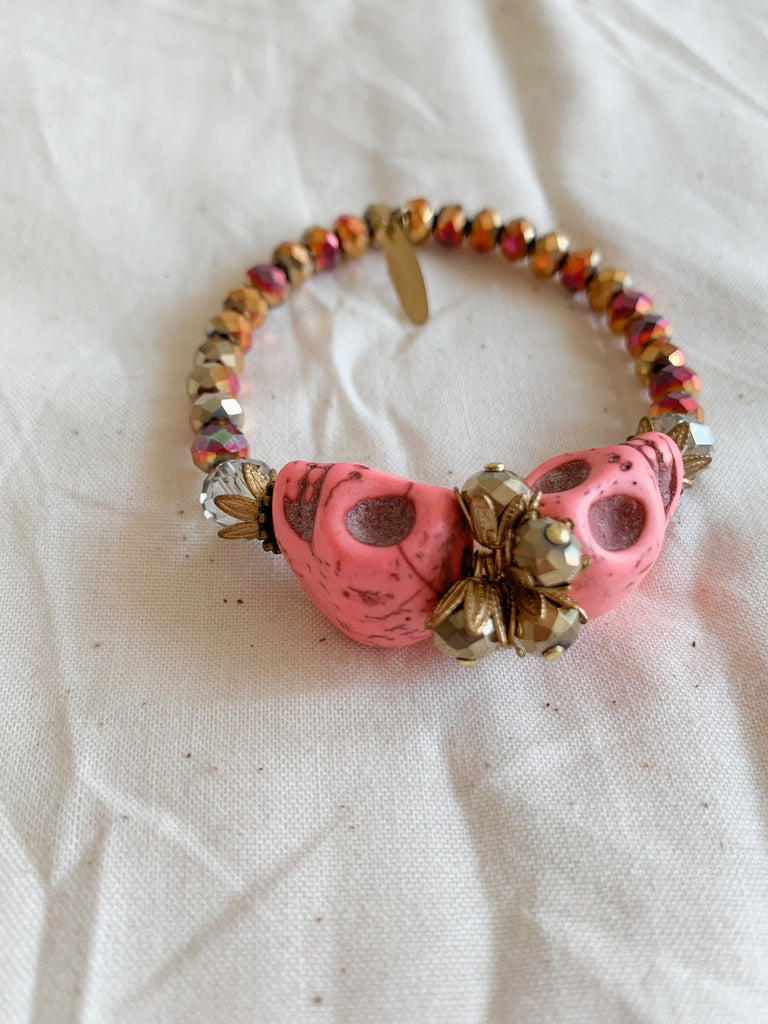 Skull Crush Bracelet - Pink - Nous Wanderlust Stories
