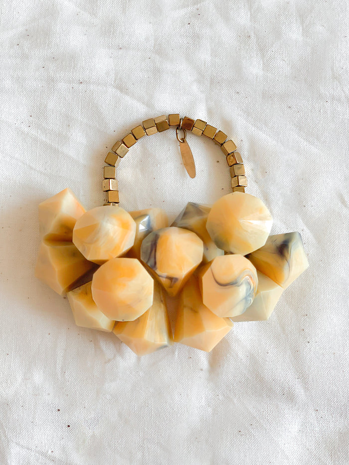 Resin Cluster Bracelet - Yellow - Nous Wanderlust Stories