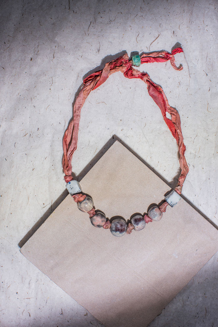 Turadh Ceramic Necklace - Nous Wanderlust Stories