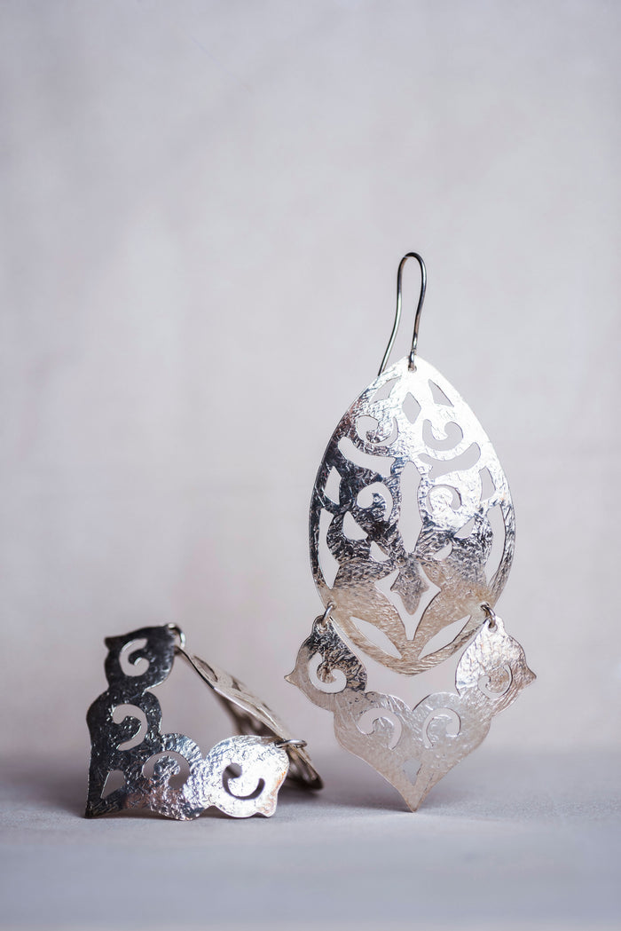 Wind Chime Silver Earrings - Nous Wanderlust Stories