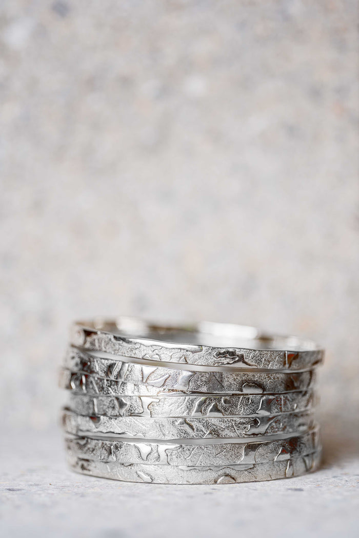 The Gathering Silver Bangle Set - Nous Wanderlust Stories