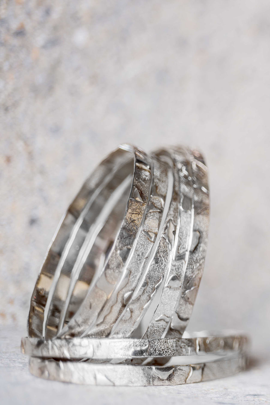 'The Gathering' Silver Bangles - Nous Wanderlust Stories