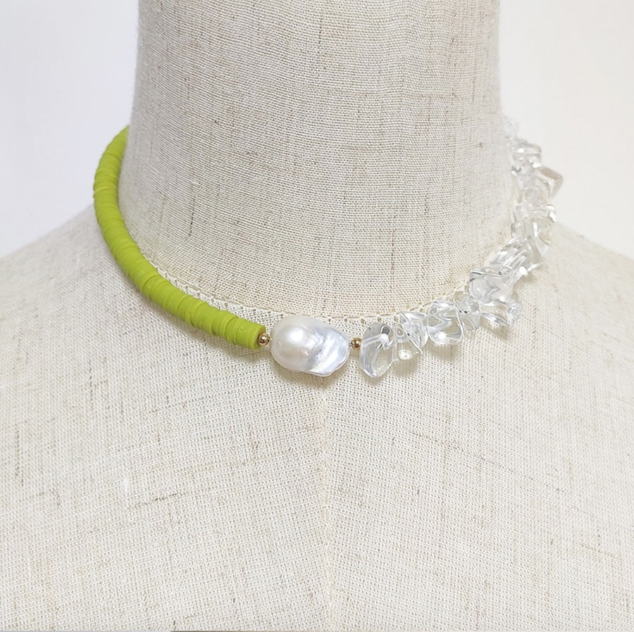Cluster Choker Necklace - Lime Green - Nous Wanderlust Stories